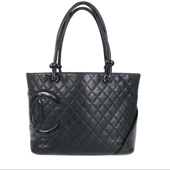 528c8a00a223 CHANEL Bags | Jumbo Cambon Black Lambskin Tote | Poshmark